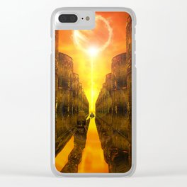 River Of Gold Clear iPhone Case