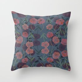 CONTINUOUS FLORAL II Throw Pillow
