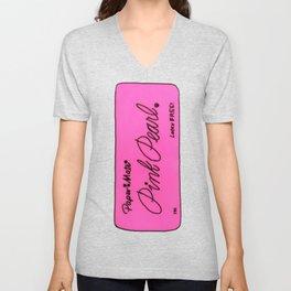 Pink Pearl Eraser Unisex V-Neck