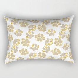 Cute golden paws in pastel colors Rectangular Pillow