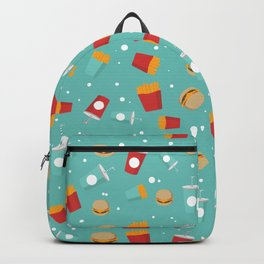 Burgers pattern Backpack