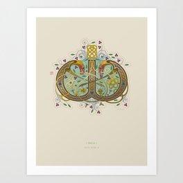 Celtic Initial W Art Print