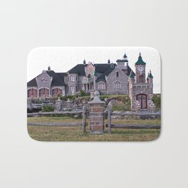Stone Mansion on the River Bath Mat