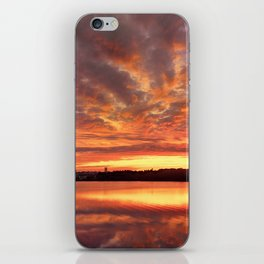 Red Burning Sky iPhone Skin