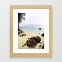 Boracay Rock by the bay Framed Art Print