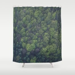 green-trees Shower Curtain