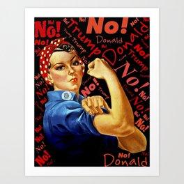 Women Against Trump (Rosie the Riveter) Art Print