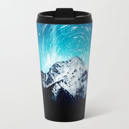 Between the galaxy and the mountain Travel Mug