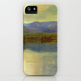 Mounts Katahdin and Turner from Lake Katahdin, Maine - Frederic Edwin Church iPhone Case