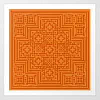 orange pattern Art Prints featuring Orange Pattern by Timothy M. LeBlanc