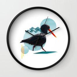 Oyster Catcher Wall Clock