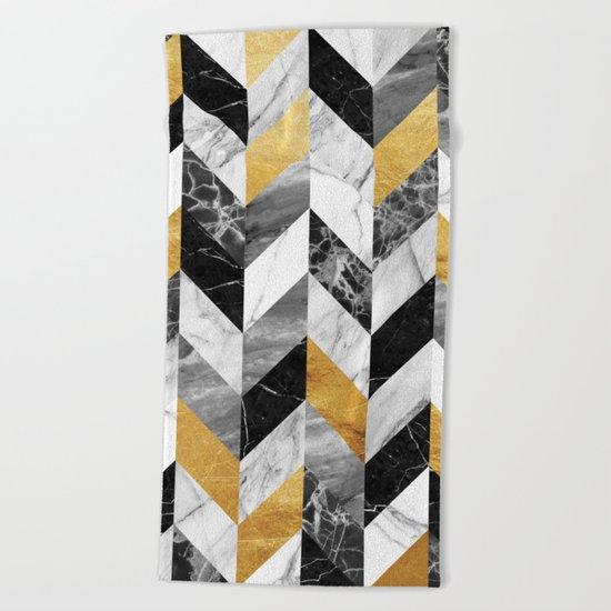 Marble Pattern Beach Towel