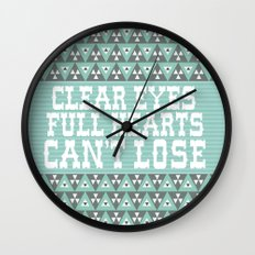 Clear Eyes Full Heart Can't Lose Wall Clock