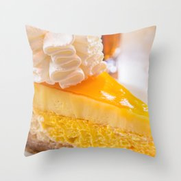 Cheesecake #food #dessert #sweets Throw Pillow