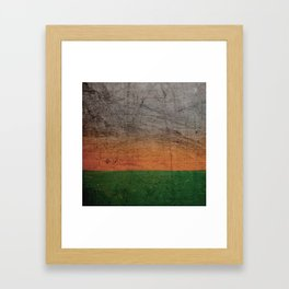 Wall and colors Framed Art Print
