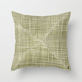 Ink Weaves: Citrine Throw Pillow