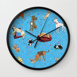 Lessons my dogs taught me. Wall Clock