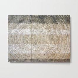 Tree bark texture, wood fibers texture abstract art Metal Print