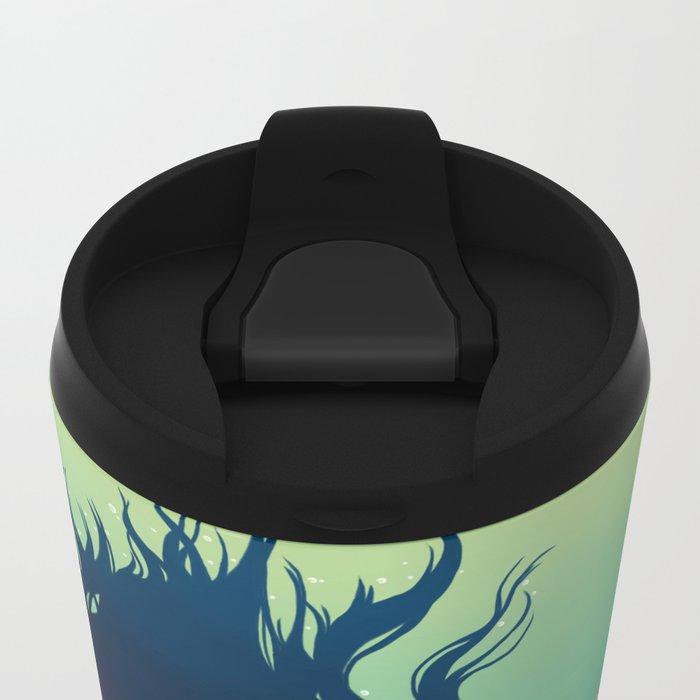 Underwater Lady Metal Travel Mug