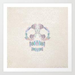Aurora Quartz Skull Art Print