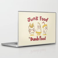 junk food Laptop & iPad Skins featuring Junk food is dumb food by penguinline