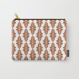 Orange Fern Pattern Carry-All Pouch