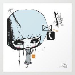 you kill me for XOXO Art Print