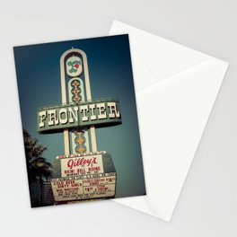 Frontier Hotel Sign, Las Vegas Stationery Cards