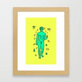 David illustration Framed Art Print