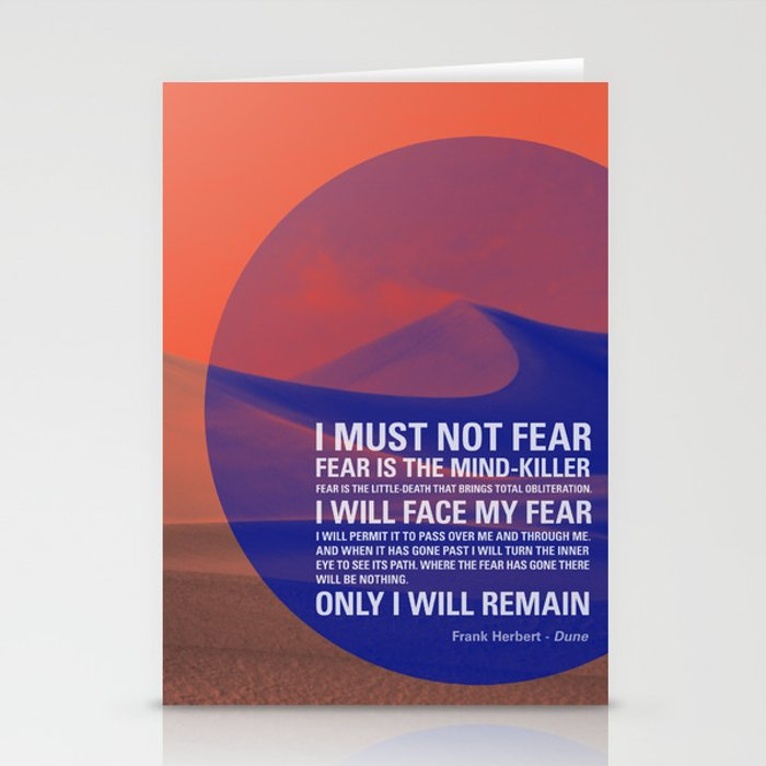 Litany Against Fear Stationery Cards