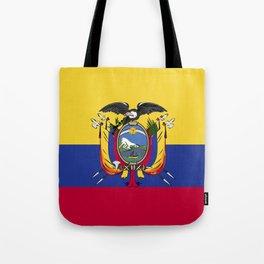 Ecuador flag emblem Tote Bag