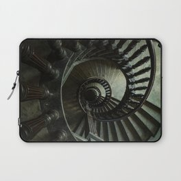 Brown wooden spiral staircase Laptop Sleeve