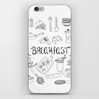 breakfast iPhone & iPod Skins featuring Breakfast by Brooke Weeber