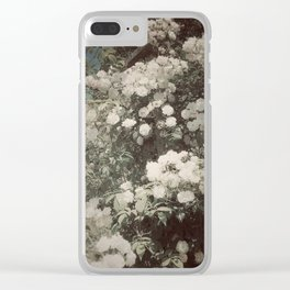 White Bouquet Clear iPhone Case