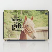 arab iPad Cases featuring Horse Quote Arab proverb by KimberosePhotography