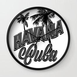Hanana Cuba Wall Clock
