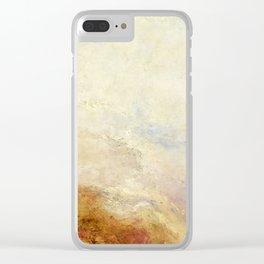 """J.M.W. Turner """"A mountain scene, Val d'Aosta"""" Clear iPhone Case"""