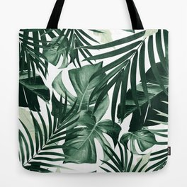 Tropical Jungle Leaves Pattern #4 #tropical #decor #art #society6 Tote Bag