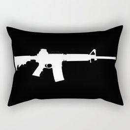 AR-15 (on black) Rectangular Pillow