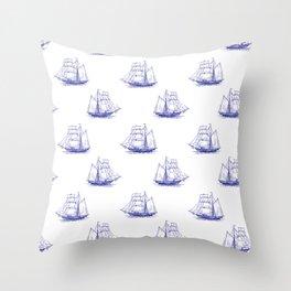 Sailing Ships Throw Pillow