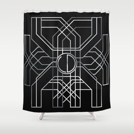 Silver Deco Shower Curtain