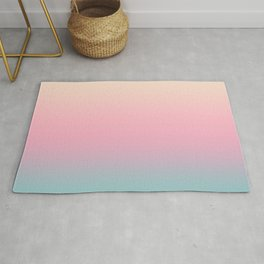 Ombre gradient illustration pink yellow blue colors Rug