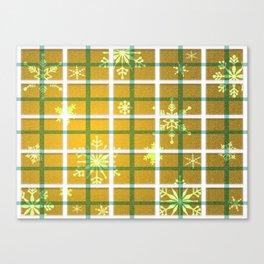 Gamboge Sycamore Snowflakes Canvas Print