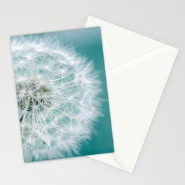 Puff - Teal and White Dandelion Clock Photo Stationery Cards
