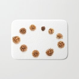 pine cones isolated on a white background Bath Mat