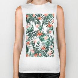 Tropical Flowers & Leaves Paradise #2 #tropical #decor #art #society6 Biker Tank