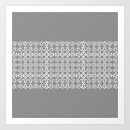 pahulje (gray) Art Print