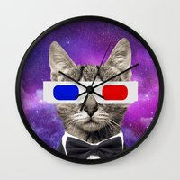 neil gaiman Wall Clocks featuring neil catrick harris by tbdaniel15