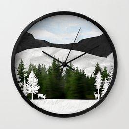 Forest Scene Wall Clock