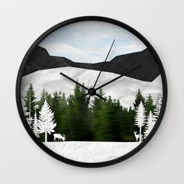 Forest Scene Wall Clock